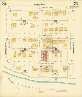 Plate 73 [Broughton Street to Burnaby Street to Cardero Street to English Bay]