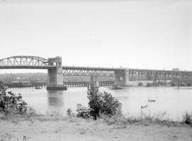 [View of] Burrard Bridge [looking east from the north shore of False Creek]