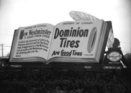 "Taken for Duker and Shaw Billboards Ltd. [""History of Canada"" ad for Dominion Tires]"
