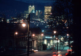 [View from] Cambie [Street] at 12th [Avenue at night]