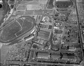 Aerial view of P.N.E. grounds and surrounding area