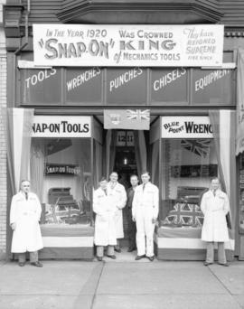 Snap-On Tools [employees in front of store at 1211 Granville Street]