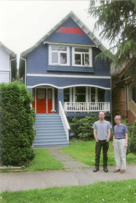 Alan and Marnie MacDonald in front of 2748 [West] 7th Avenue