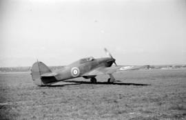 [A Hawker Hurricane taxiing]