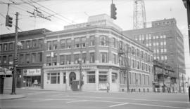 N.E. [corner of] Robson and Granville [Streets]