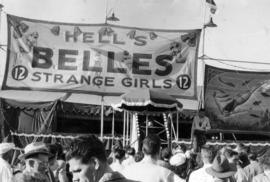 Hell's Belles banner at the P.N.E.