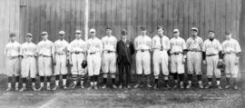 National Biscuit Company baseball team with their manager