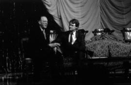 Hugh Pickett and Gordon Campbell on stage at the Arts Club