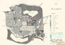 North-East Burnaby Study, revised Simon Fraser townsite plan : 1967 City of Vancouver alternative...