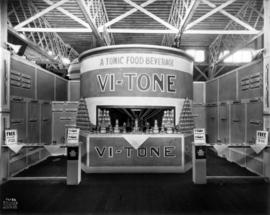 Vi-Tone display of tonic food beverages