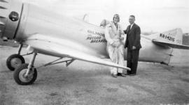 Frank Way, first Customs Officer, Sea Island Airport and Keith Rider, pilot
