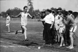 [Mr. Risden wins the quarter-mile race at an N.P.A.A.W. sports meet at Brockton Point]