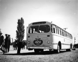1st bus? by Garden Bend : [B.C.E. bus on P.N.E. grounds]