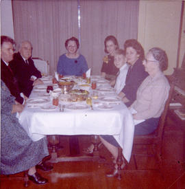 Christmas Day dinner at the Cameron's (4444 West 8th), 1964