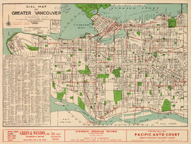 Dial map of Greater Vancouver