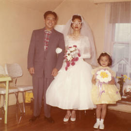 Harry Louie, Ella Wong and flower girl