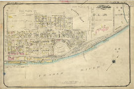 Plate 124 [B.C. Penitentiary grounds to Queens Avenue to Sixth Street to Fraser River]