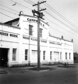 Concrete garage (Campbell's) where once stood Doering and Marstrands Brewery at Brewery Creek, Mo...