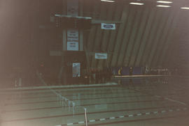 Interior of Vancouver Aquatic Centre during Western Divisional Synchronized Swimming Competition ...