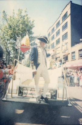 Actor dressed as Captain George Vancouver
