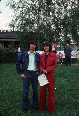 Larry Wong and Selina Quan at MacLean Park