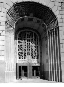 Marine Building, 355 Burrard Street, entrance doorway