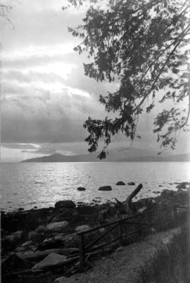 [View across the water from Stanley Park]