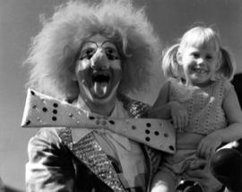 Clown with girl