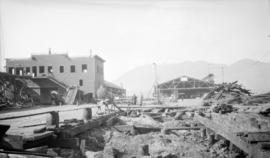 [Old Canadian National Steamship wharf being demolished]