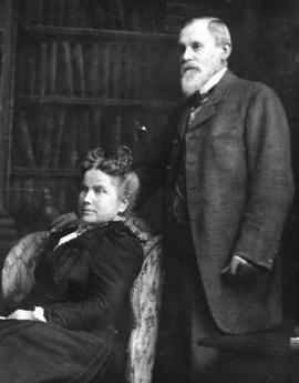 [Studio portrait of John] Morton and second wife Ruth Morton