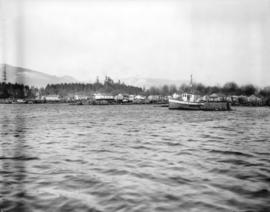 Coal Harbour [showing] Deadman's Island and Stanley Park