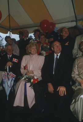Group of B.C. politicians during the Centennial Canada Day celebration