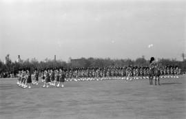 Seaforth Highlanders marching at the opening of the Seaforth Armoury