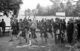 [Seaforth Highlanders on parade in Stanley Park]