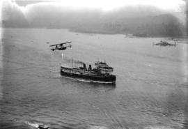 "[Union Steamship Company ship ""Lady Alexandra"" entering first narrows of Burrard Inlet]"