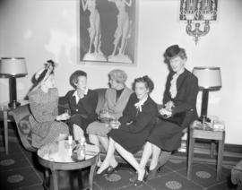 [Group of women at a Red Cross social event]
