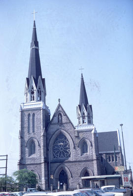 [View of the Holy Rosary Cathedral, 646 Richards Street]