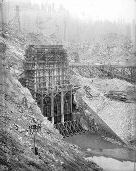 [Headgate valve house for Coquitlam Dam]