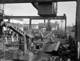 [View of yard at Western Bridge and Steel Fabricators Ltd.]