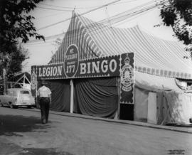 Canadian Legion Mt. Pleasant Branch 177 bingo tent on P.N.E. grounds