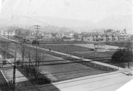[The C.P.R. Park at the corner of Georgia Street and Granville Street]