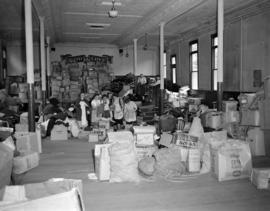[Women sorting items for the Salvation Army]