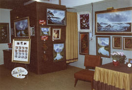 Thelma Stobie display of art, 1972 P.N.E. Wonderful World of Art show