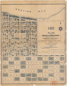 192 : plan of Provincial Government property being a portion of Townsite of Vancouver and subdivi...