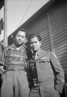 Donald Wong and unidentified man
