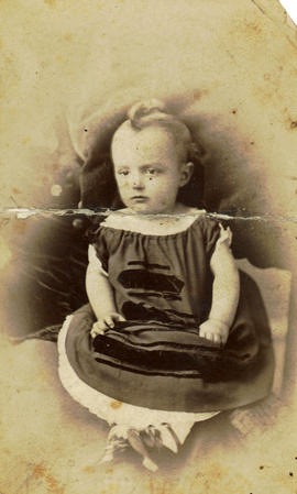 [Studio portrait of baby]