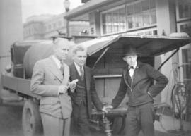What We Have We'll Hold! [David Spencer's Ltd. employees and unidentified man during gasoline str...
