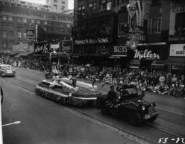 City of New Westminster float in 1953 P.N.E. Opening Day Parade