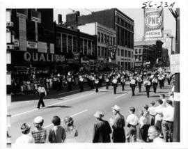 West Vancouver Boys and Girls Band in 1956 P.N.E. Opening Day Parade