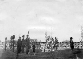 [H.R.H. The Duke of Connaught reviewing the 72nd Regiment, Seaforth Highlanders at Hastings Park]
